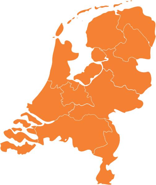 Coaches nodig overzicht kaart van Nederland